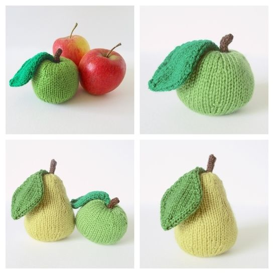 Apple and Pear Pincushions