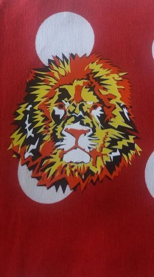 Cutting file lion - multicolored cool lion plot file, with manual