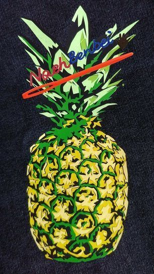 Cutting file set pineapple  - multicolor cool pineapple plot file set in 4 variants, for the whole family - with manual