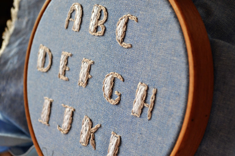 embroidery alphabet ABC