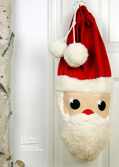 Santa sack sewing instruction and pattern