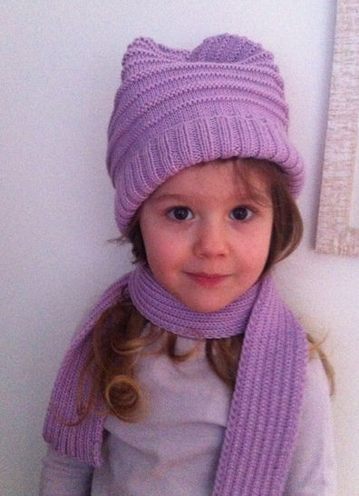 Elemiah Scarf and Hat for Girls