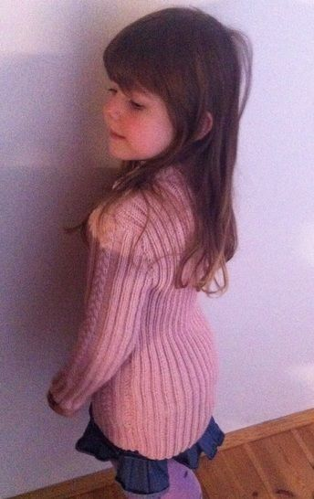 Charmeine Pink Cable Jumper Sweater for Girls 5 years Size 122