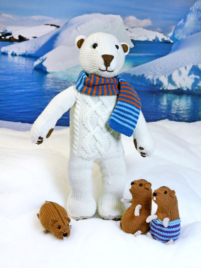 POLAR BEAR ILUQ, soft toy knitting pattern