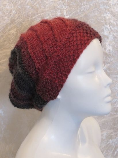 Knitting pattern hat, beanie, toque, slouch Beria