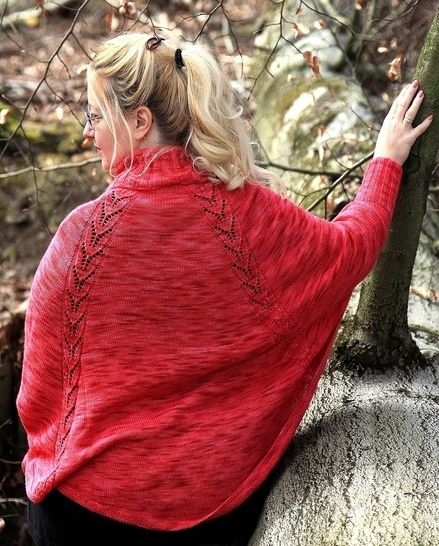 Knitting pattern poncho, sweater, cape, swoncho Nessa