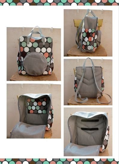 Rucksack, backpack GEO - pattern and sewing instruction