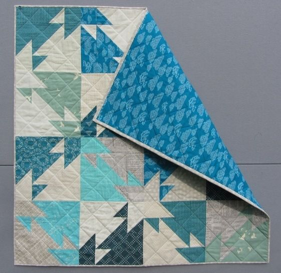 Triangle Challenge - modern quilt pattern - quilts patchwork sewing Fat Quater friendly