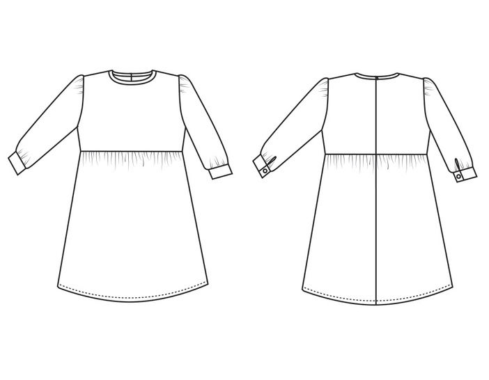 Dress ELLEN PDF Pattern + Tutorial