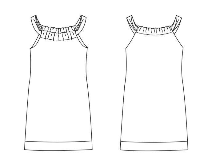 Dress BEAU PDF Pattern + Tutorial
