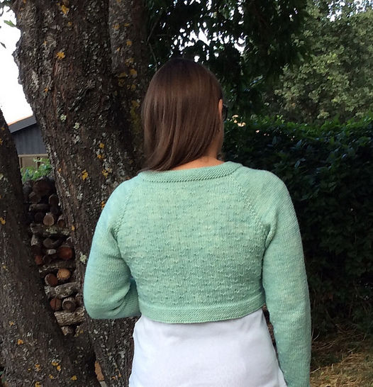 Grande gourmandise - cropped cardigan for women
