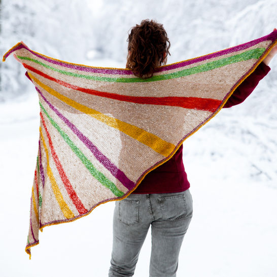 Divergence Shawl - Knitting