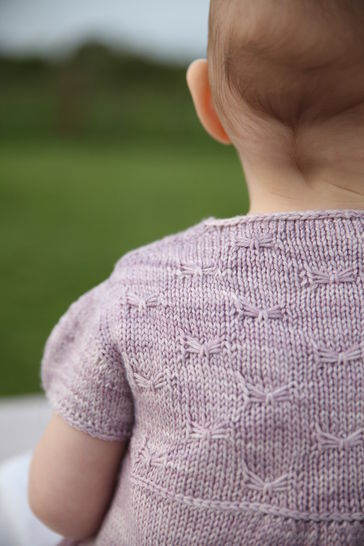 Sweet Butterfly Baby's Cardigan - Knitting