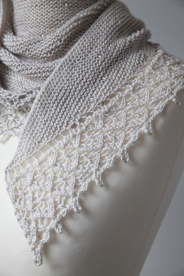 Châle Pearl of Dew - explications tricot