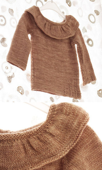 Pull enfant On the moon - explications tricot