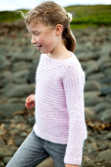 Pull enfant Isay 4-14a - explications tricot