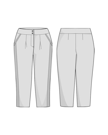 BRUGES trousers - sewing pattern with detailed instructions
