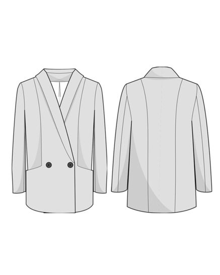 AMSTERDAM blazer - sewing pattern and tutorial with detailed instructions