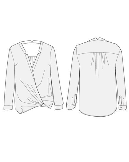 HELSINKI blouse - sewing pattern with detailed instructions