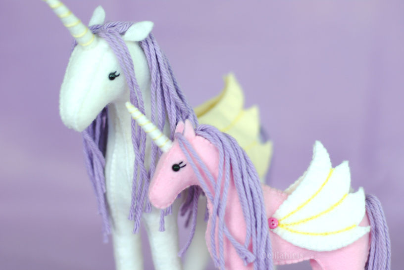 Stuffed Unicorn Sewing Pattern