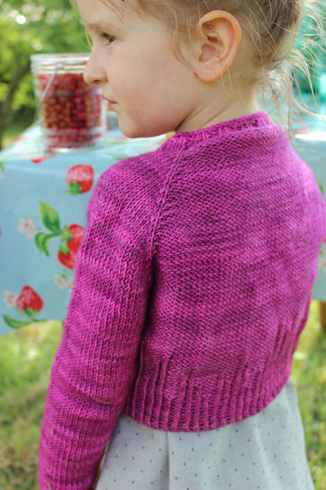 Girl short cardigant - (Petit) Agora - 4-12 years - Knitting