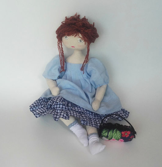 Rag doll sewing pattern and tutorial - 35 cm (13,65 inches) tall - Nuumber 3