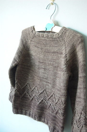 Chuck baby and child unisex sweater - knitting pattern