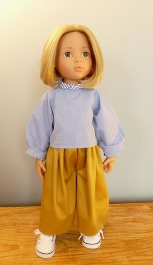 Scoolgirl, Doll clothes pattern for 18 inch doll fits American girl, Bonnie and Pearl, We Girl, Götz, Maru and Friends