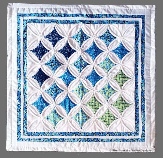 Baby quilt pdf pattern and tutorial - Cathedral windows