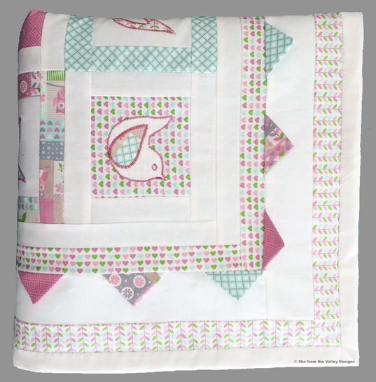 Baby quilt pdf pattern and tutorial - Calling the spring