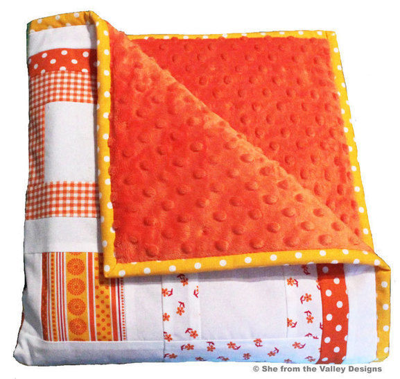Baby quilt pdf pattern and tutorial - Peekaboo
