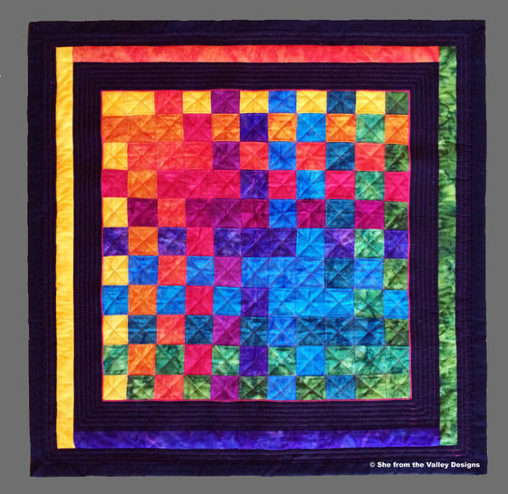 Baby quilt pdf pattern and tutorial - Woven Rainbow