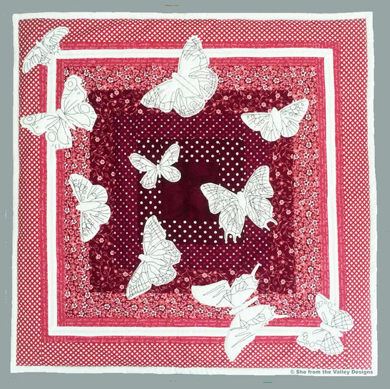 Baby quilt pdf pattern and tutorial - Hypnotising butterflies