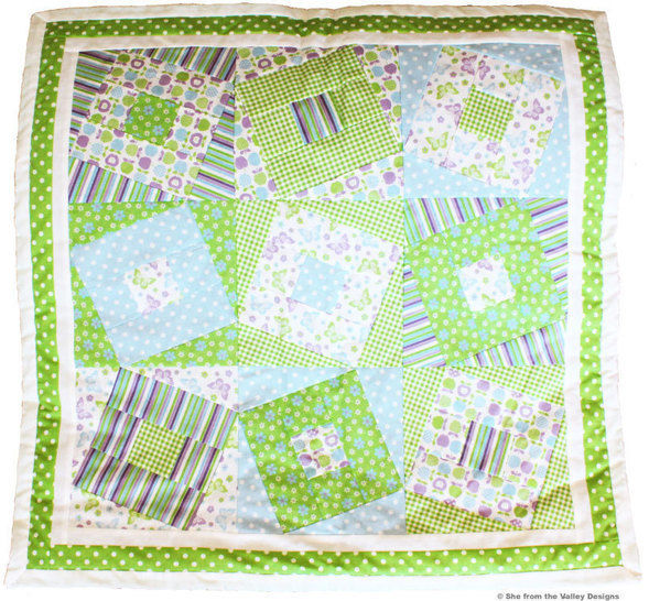 Baby quilt pdf pattern and tutorial - Wonky squares