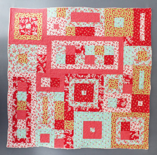 Baby quilt paper piecing pdf pattern and tutorial - Playing squares