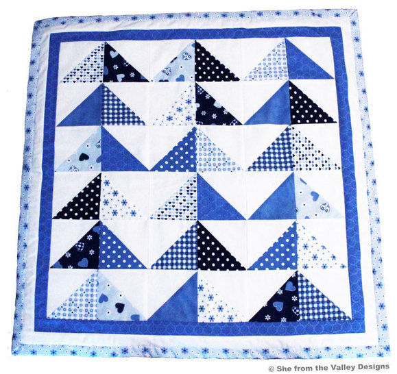 Baby quilt pdf pattern and tutorial - Mineral landscape