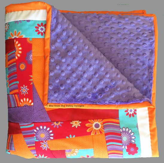 Baby quilt paper piecing pdf pattern and tutorial - Kaleidoscope