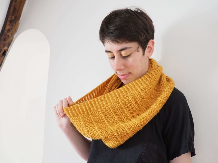 Snood Poios - explications tricot