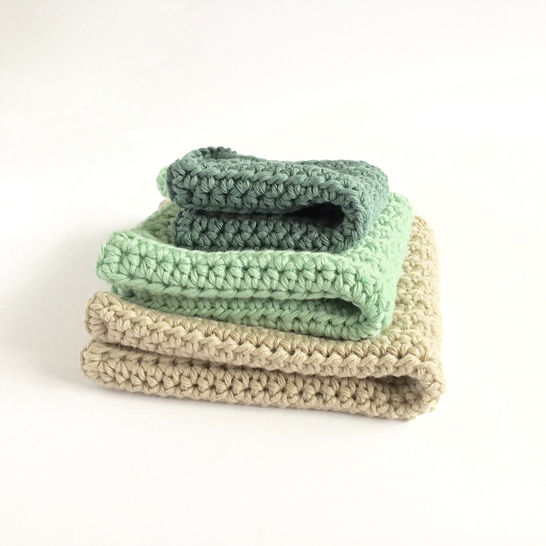 Simple Washcloth in 3 Sizes - Crochet Pattern