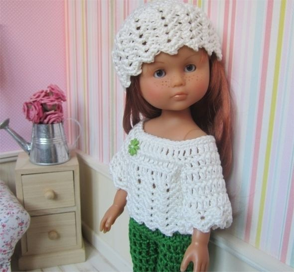 Spring : crochet outfit for 32-33cm doll