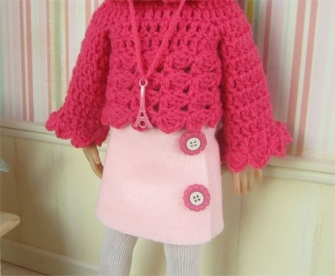 Paris : crochet outfit for Little Darling Effner Doll