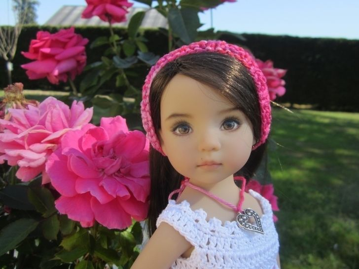 Begonia : crochet outfit for Little Darling Effner Doll