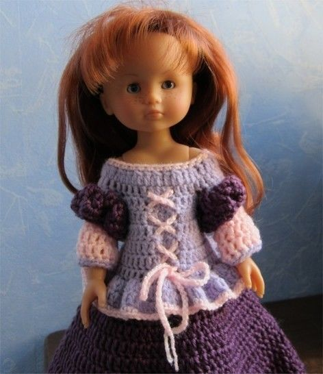 Princess Mary: crochet outfit for 32-33 cm dolls