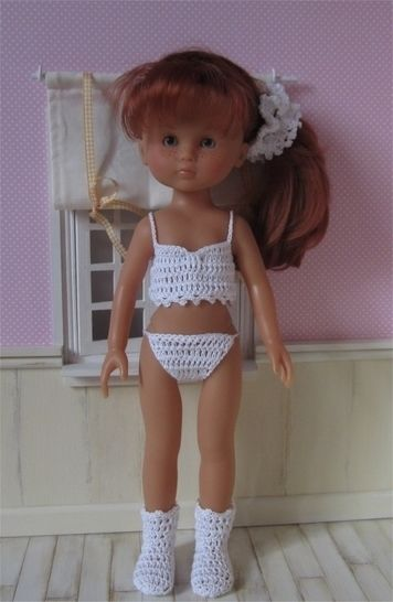 Lingerie: two crochet outfits for 32-33cm dolls