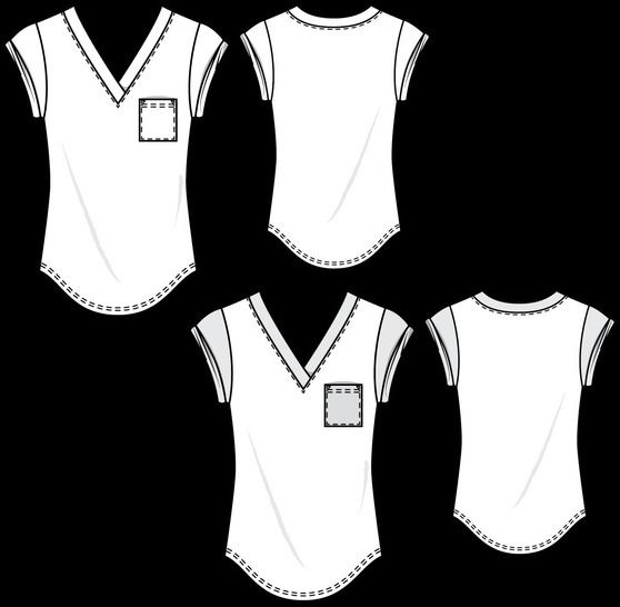 T003 relaxed t-shirt - PDF sewing pattern