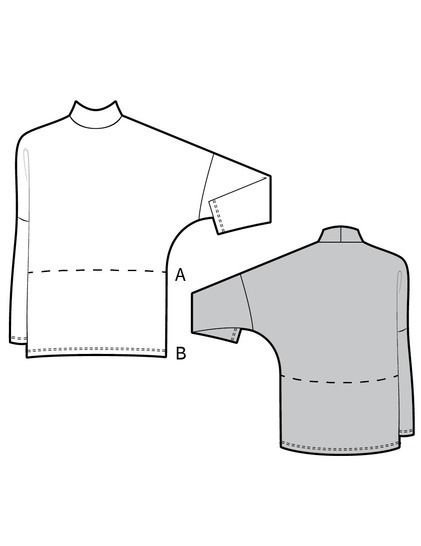 ANDY the loose sweater - PDF sewing pattern