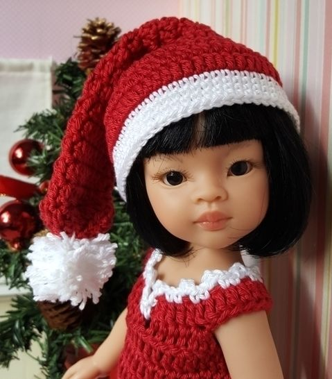 Merry Christmas : crochet outfit for 32-33 cm doll