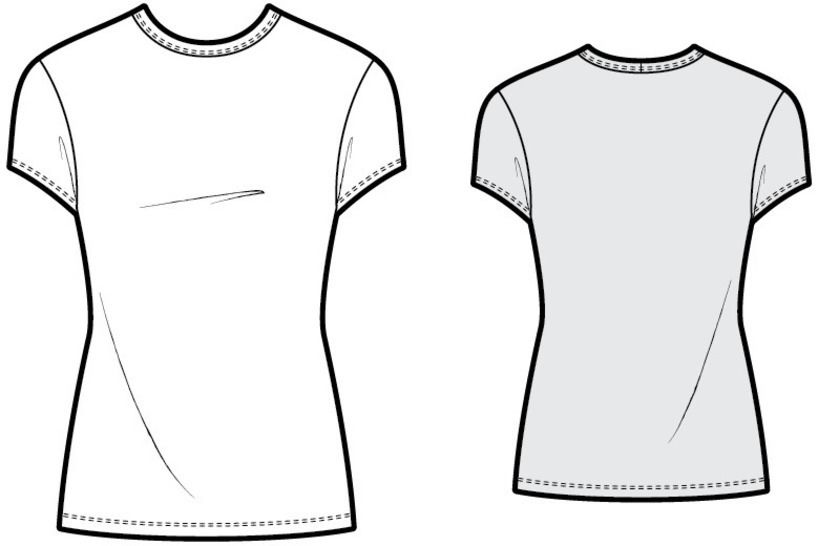T004 fitted t-shirt - PDF sewing pattern