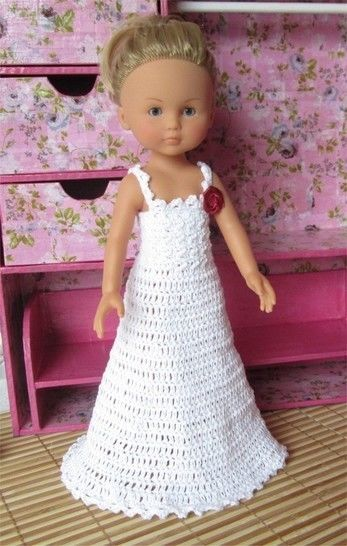 Special Day: crochet outfit for 32-33 cm dolls