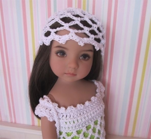 Anis: knit and crochet outfit for 32-34cm dolls